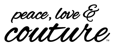 Peace Love and Couture Body Wash Logo