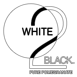 White 2 Black Pure Pomegranate Logo