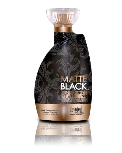 Matte Black Indoor Tanning Lotion By Devoted Creations Color Rush